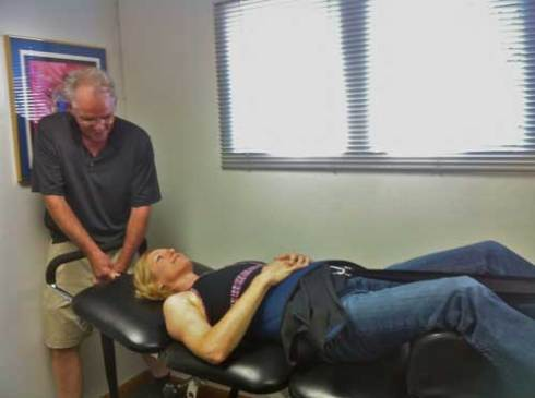 Spinal decompression therapy.